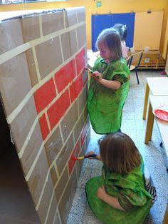 Creative Curriculum, Three Little Pigs, Construction, Preschool, Teaching, Education, Building, Reggio, Plays