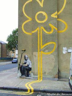Bansky's Graffiti in Bethnal Green