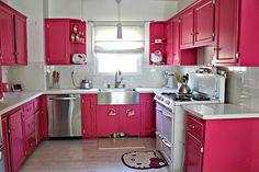 WORLD GIRL : Inspiração Decor: Cozinha Pink