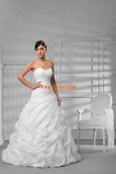 Herz-Ausschnitt Frühling Natürlich Brautkleider 2014