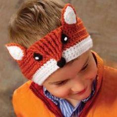 fox headband crochet pattern