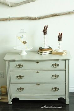 refinished furniture by whiteberry.  Website has a glazing tutorial.  Already planning my summer projects!