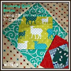 """Economy Quilt Block Size Options: Using 2.5"""" and 5"""" Centers! #economyquiltblock #economyquiltalong"""