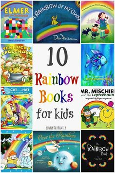 Top 10 Rainbow Books for Kids 10 Rainbow Books for Kids! Perfect for a preschool rainbow theme or a St. Patrick's Day lesson, these rainbow children's books are great for teaching colors to kids or just for fun! Preschool Weather, Preschool Colors, Teaching Colors, Rainbow Activities, Preschool Activities, Spring Activities, Preschool Classroom, Rainbow Theme, Kids Rainbow