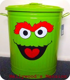 : The Grouchiest Task of All - Laundry! Turn a trash can into a fun laundry hamper for the kids