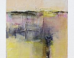 14 juin 2016 peinture - abstrait peinture à l'huile - 9 x 9 (9 x 9 cm - environ 4 x 4 pouces) avec 8 x 10 pouces mat