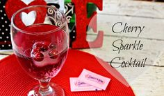 Cherry Sparkle Cocktail for Valentines Day