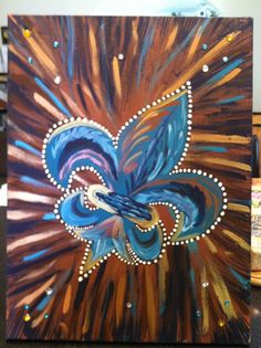Blues & Metallics Fleur De Lis -Peace Of Art by MelKay (I take orders!)