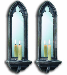 Gothic Mirrors by CHAPTER HOUSE DESIGN Church candle sconce mirror (pair) | eBay
