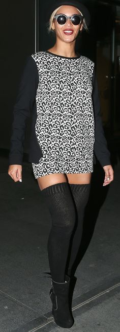 Beyonce out and about in leopard @Tibi New York (that you can buy right now!!)