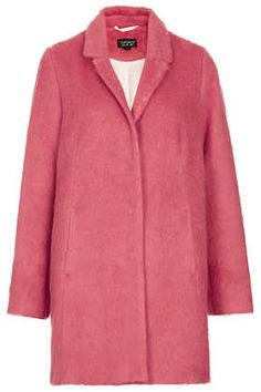 Fluffy Swing Boyfriend Coat from topshop. i've been debating between pink and gray coat. this is a good option.