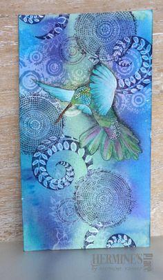 Deze kaart lag nog te wachten om afgemaakt te worden. Na een geweldig workshop van Miranda, had ik 2 kaarten af, die ik al eerder heb laten zien, van deze moest nog het vogeltje ingekleurd worden. …