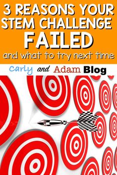 Have you ever had an Elementary STEM lesson fail? Check out this guest post from Dr. Jacie Maslyk on the Carly and Adam blog: 3 Reasons Your STEM Challenge Failed (and What to Try Next Time). If your lesson or STEM challenge didn't go quite right, it may have something to do with collaboration, content, or culture. Click to learn more.