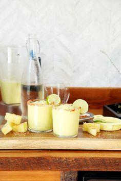 Frozen Pineapple Jalapeno Margaritas | Joy the Baker
