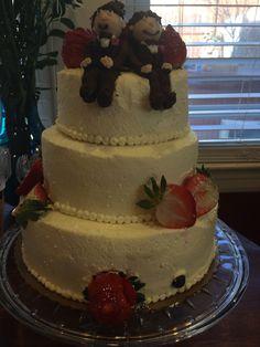 Yummy strawberry & kiwi chiffon cake