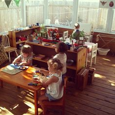 Sunlight-Drenched Toddler Montessori Classroom