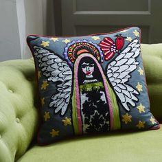 Appliquéd Character Cushions: Angel Frida