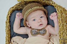 Baby Boy Picture Outfit, Crochet Infant Suit, Top Derby Fedora Hat and Bow Tie Crochet Bow Ties, Crochet Cap, Hand Crochet, Free Crochet, Crochet For Boys, Boy Crochet, Crochet Hat With Brim, Kids Tutu, Baby Boy Pictures