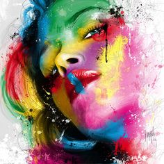 Fav artwork © Patrice Murciano Visual artist #art #portrait #colors