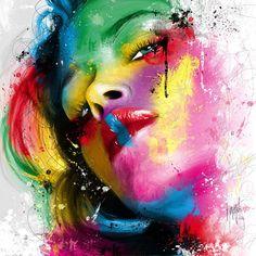 Fav artwork © Patrice Murciano Visual artist #art #portrait #colors