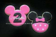 Minnie Mouse cookies      www.oohlalabakingco.com