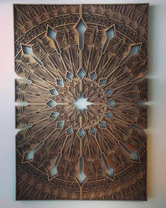 Back at my favorite place in SF finishing up my chest piece with Always proud to have this piece hanging in her shop. by gabrielschama Laser Art, 3d Laser, Laser Cut Wood, Laser Cutting, Wooden Art, Wooden Crafts, Wood Wall Art, Chest Piece, Wood Patterns