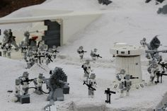 Battle on the Frozen Planet Hoth - LEGO® STAR WARS™ Miniland at LEGOLAND California