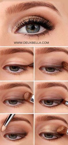 Easy Natural Eye Makeup anyone can do. Step by step eye makeup how-to. This site…
