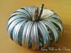 mason jar lids | Mason Jar Lid Pumpkin | Living Well on the Cheap