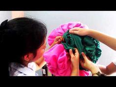 ขั้นตอนที่ 4 การทำดอกในการผูกผ้า - YouTube