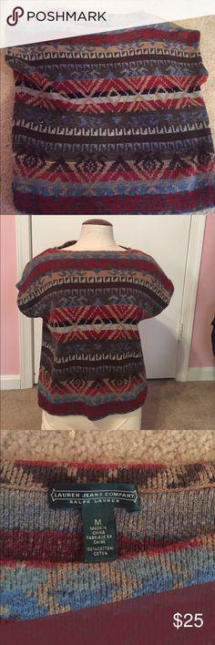 Ralph Lauren sleeveless sweater Multicolored top. Worn once but I don't like the sleeveless/sweater combination Ralph Lauren Tops