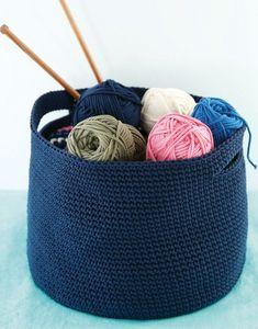 modèle corbeille en crochet
