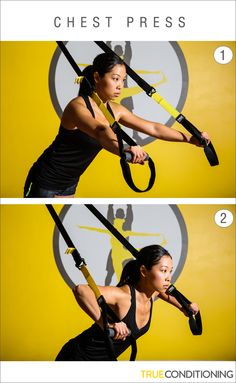 Get sculpted arms and a stronger core with the TRX Chest Press.