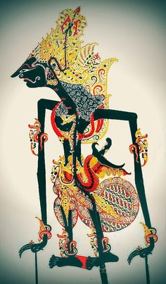 Kresna the first cousin of the Pandhawas and their main advisor and his main purpose is to carry out the will of the gods, Wayang Kulit, Sukoharjo Central Java, Leather Shadow Art, Shadow Play, Shadow Theatre, Puppet Theatre, Paper Puppets, Indonesian Art, Javanese, Shadow Puppets, Art Plastique