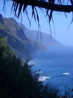 Hawaii - Na' Pali Coast, Kauai - Stella, Mark and I hiked this coastline; awesome!
