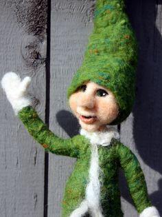 Christmas Elf Felt Elf Holiday Elf by TheFeltedGnomeKnows on Etsy