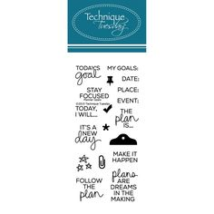 Technique Tuesday PLANNER GOALS Clear Stamps 02293 zoom image