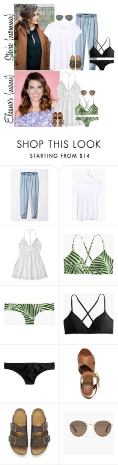 """Tuesday // Happy 4th of July! // 7.4.17"" by graywolf145 ❤ liked on Polyvore featuring Madewell, J.Crew, Mulberry, Birkenstock, Ray-Ban and StevieandEleanor"