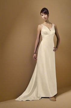 ALFRED ANGELO  Style 7043 Bridesmaid Dress  Satin  $189.00  Dress Color: CHAMPAGNE