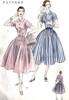 1950s Misses Summer Shirtwaist Dress Vintage by MissBettysAttic, $18.00
