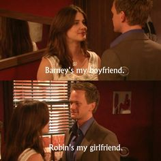 Robin and Barney, How I Met Your Mother 5x01 - Definitions