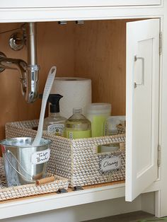 Problem: Undersink Overflow Love this. I used to think why expend precious energy on places nobody will see, but now I think why not? It's for you! Organization feels good.