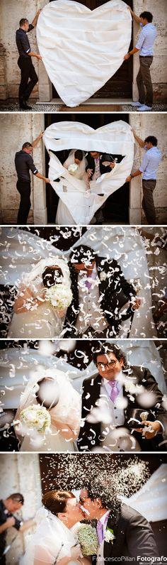 foto matrimonio lancenigo treviso uscita chiesa sposi