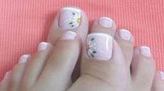 Imagen relacionada French Pedicure, Manicure And Pedicure, Toe Nail Designs, Simple Nail Designs, Cute Pedicures, Pretty Toe Nails, Feet Nails, Super Nails, Types Of Nails