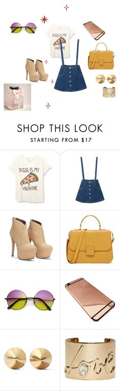 """""""look divertido"""" by kalita-01 ❤ liked on Polyvore featuring Eddie Borgo, Lanvin, Abercrombie & Fitch, look, Tshirt, pizza, passeio and LoveModa"""