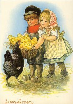 Vintage Easter Card by Jenny Nystrom Vintage Pictures, Vintage Images, Decoupage, Easter Parade, Easter Art, Vintage Greeting Cards, Vintage Easter, Vintage Children, Vintage Postcards