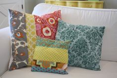 Pillow Tutorial (not that I haven't made a million throw pillows in my day, but this is a good diy)