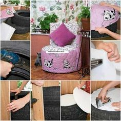 Me parece una buena idea! DIY childrens chair diy crafts craft ideas easy crafts diy ideas home diy easy diy easy home crafts for the home decor crafts Home Crafts, Easy Crafts, Diy And Crafts, Easy Diy, Decor Crafts, Craft Decorations, Teen Crafts, Recycled Crafts, Fun Diy