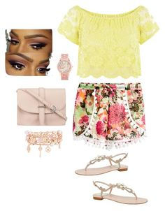 Untitled #191 by javall-bridges on Polyvore featuring polyvore, fashion, style, Quiz, René Caovilla, M.N.G, Henri Bendel and Aéropostale