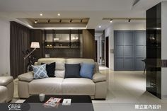 偏愛優雅時尚灰藍! 收藏 45 坪現代宅的深度品味 Loft Style, Interior Design, Nest Design, Home Interior Design, Interior Designing, Home Decor, Home Interiors, Interiors, Apartment Design
